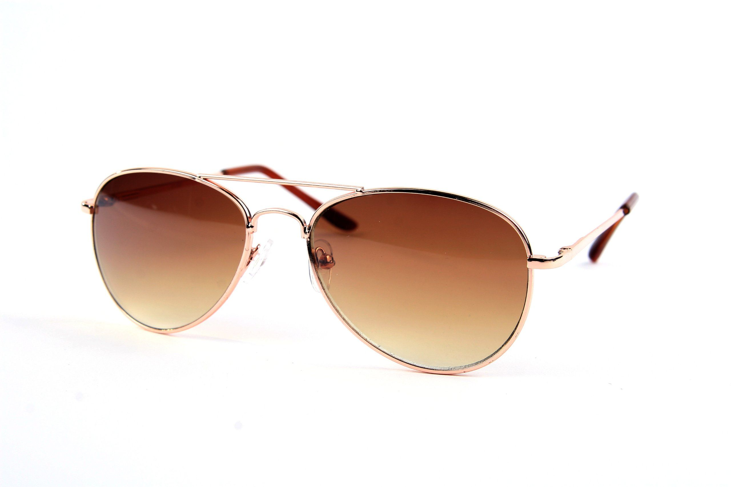 Children Metal Classic Aviator Color Lens Sunglasses P1302 (Gold-Gradient Bro. Children Metal Classic Aviator Color Lens Sunglasses P1302.