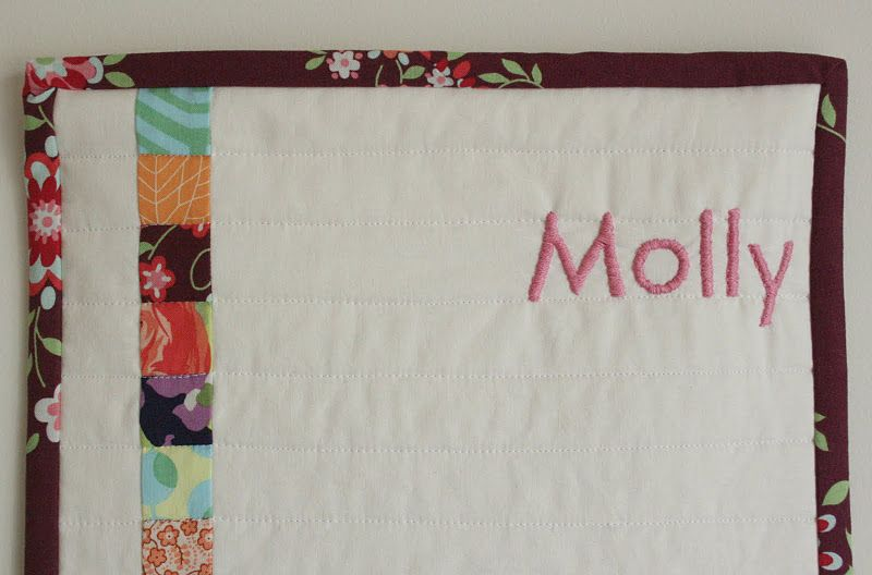 Embroidered Growth Chart Growth Chart Tutorial Baby Sewing