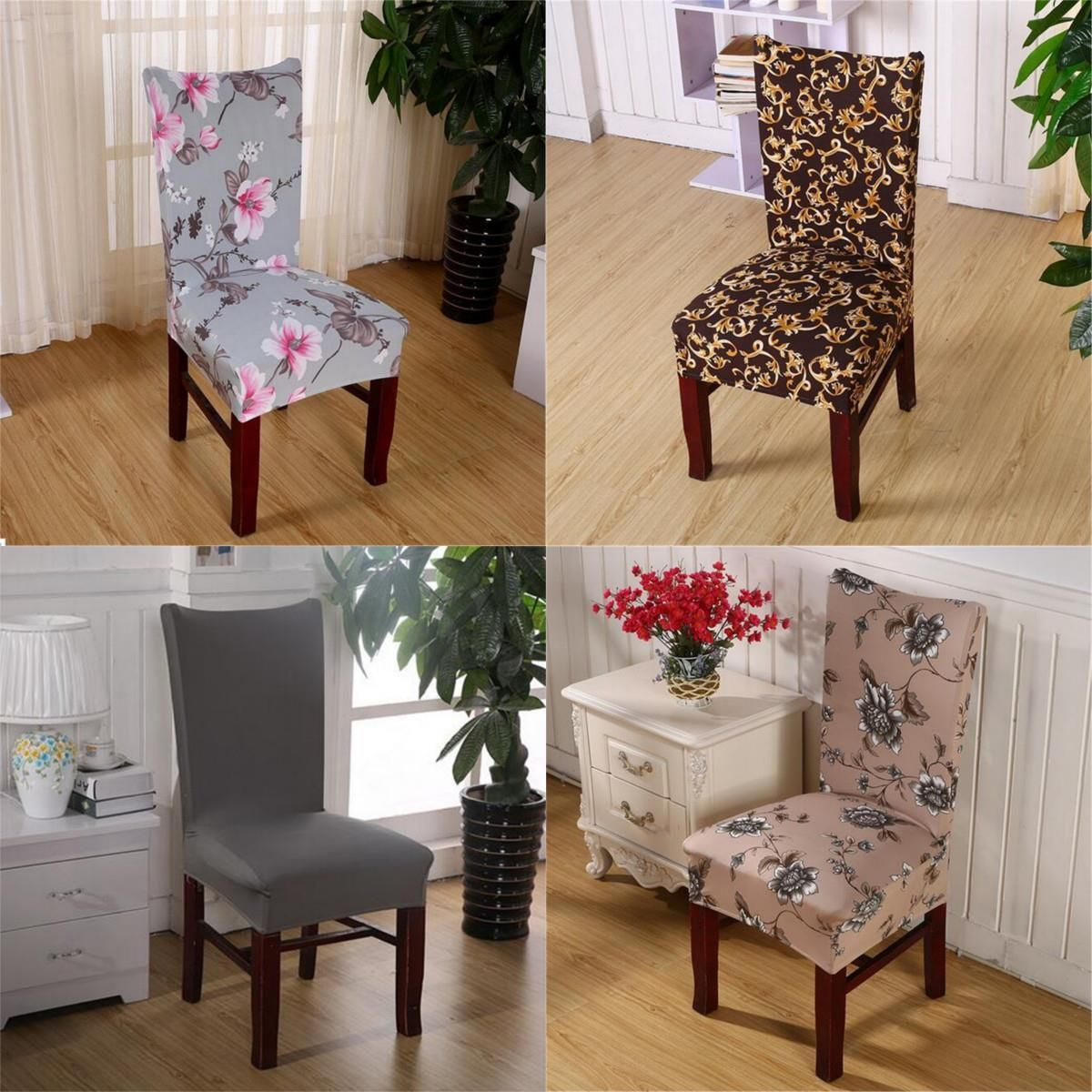 Elastic Stretch Chair Cover Dining Room Polyester Spandex Fabric Adorable Stretch Covers For Dining Room Chairs Decorating Inspiration