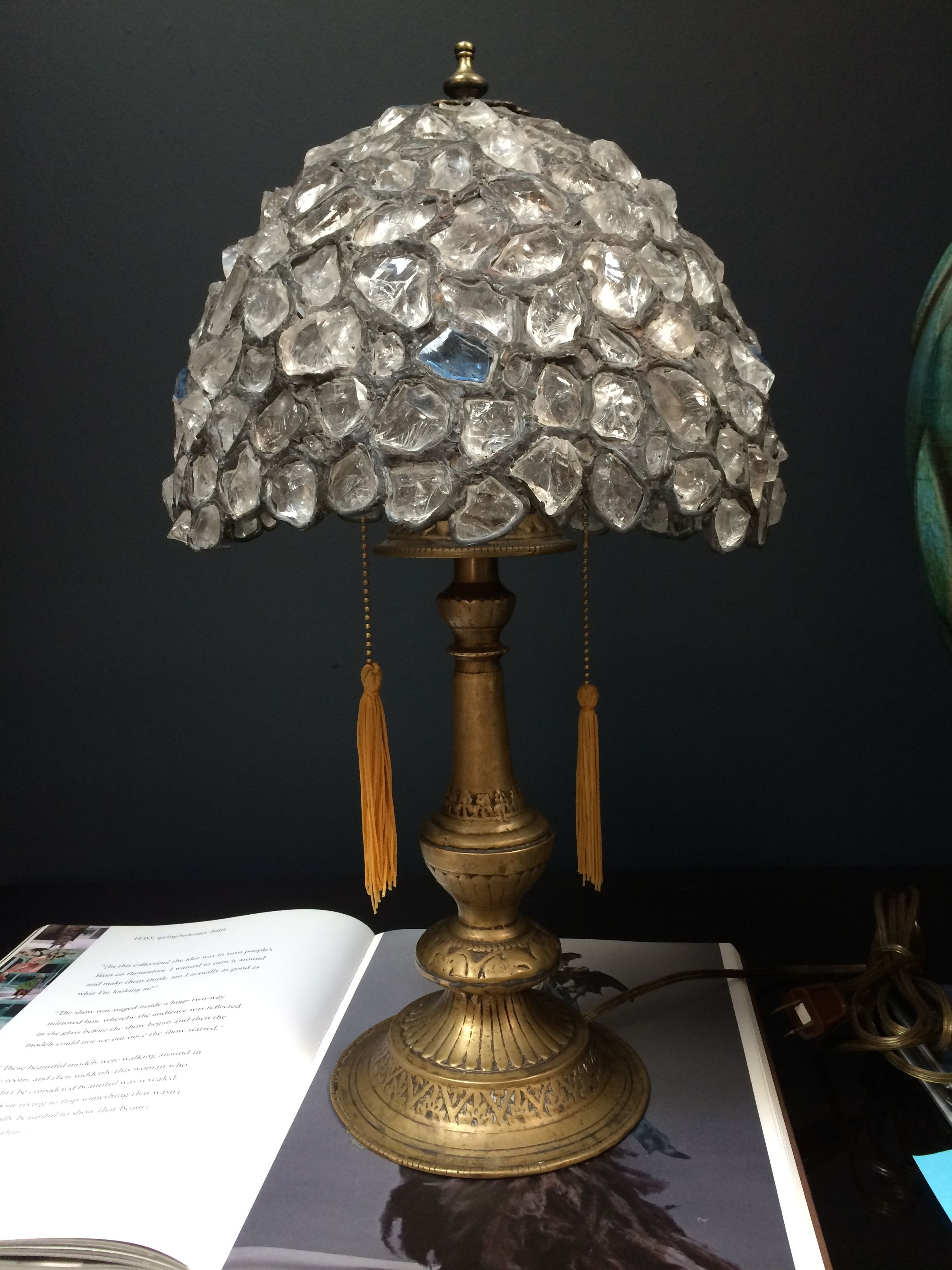 Rock Crystal table lamp - stunning | Shop | Darren ...