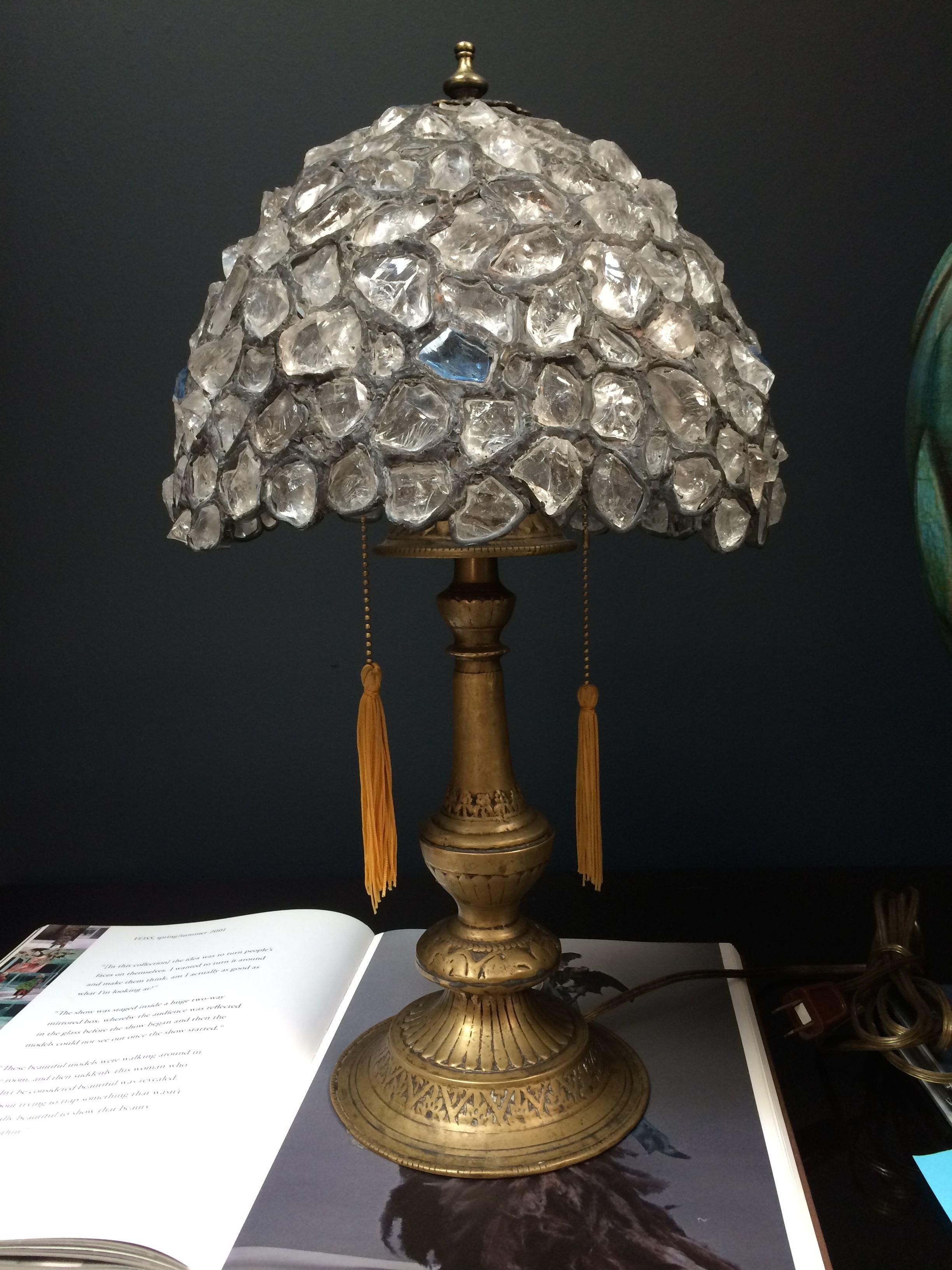 Rock Crystal table lamp - stunning | Shop | Darren ...
