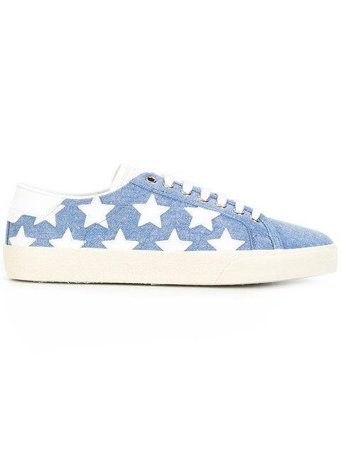 Saint Laurent Signature California sneakers - Blue farfetch blu Compras Para La Venta jJ6bU8