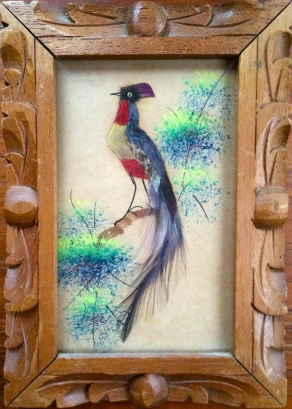 Attractive Much Celebrated Folk Art From Mexico, Colorful Birds Constructed From  Feathers, Twigs And Other