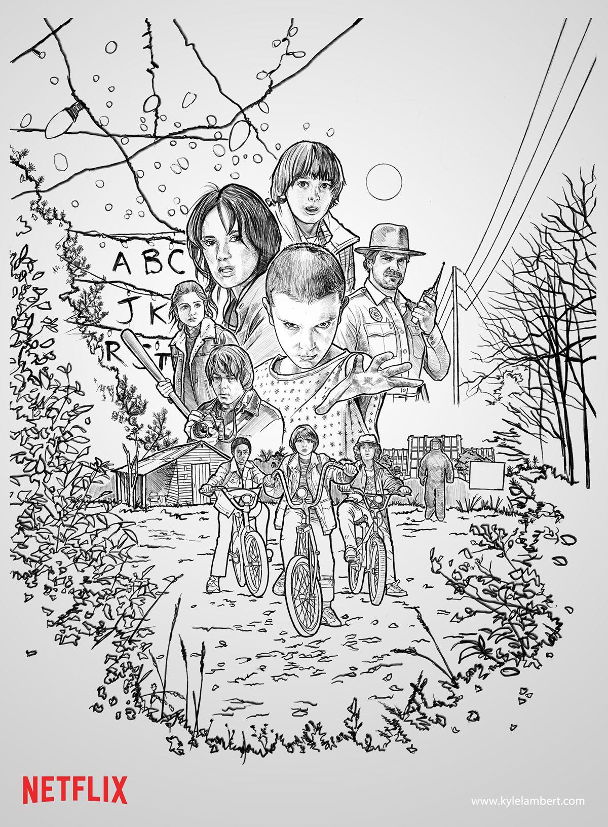 Stranger Things Netflix Poster Art Abduzeedo Design