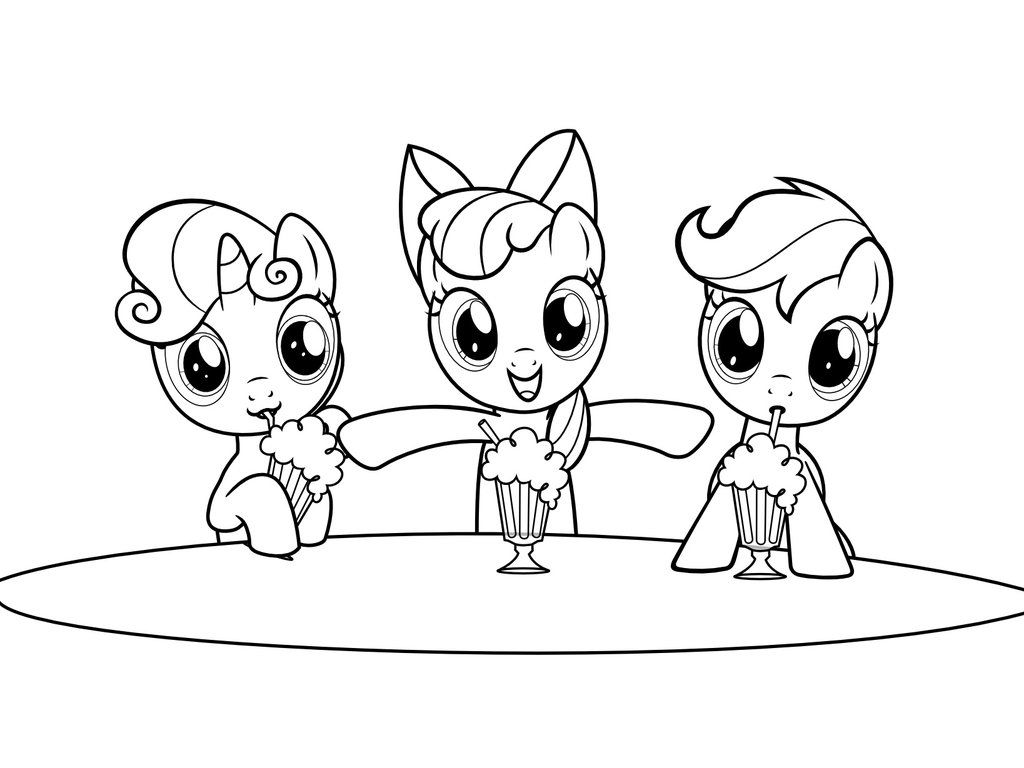 mlp coloring page milkshakes by scienceisanart on deviantart - My Little Pony Color Page