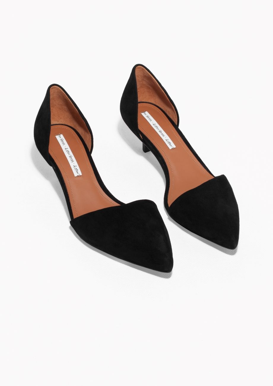 8f940702b & Other Stories | Kitten Heel Suede Pumps | shoes in 2019 | Shoes ...