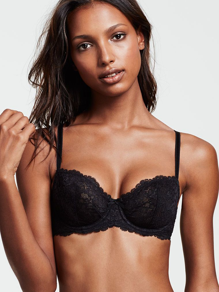 f3823ee991 Unlined Lace Demi Bra - Dream Angels - Victoria s Secret