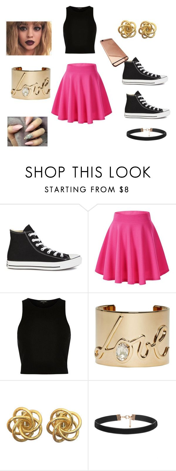 """"""""""" by cocoatea ❤ liked on Polyvore featuring Converse, River Island and Lanvin"""