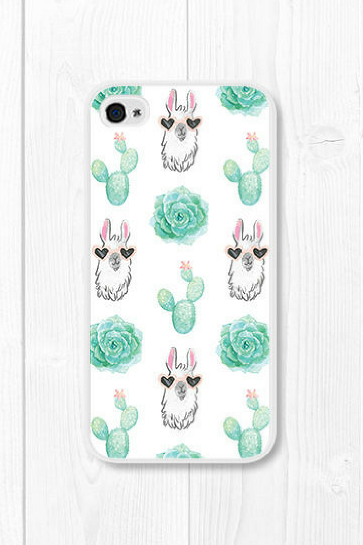 buy popular 5633b 5de2b Llama iPhone 8 Case iPhone SE Case iPhone 7 Case Cactus iPhone 6 ...