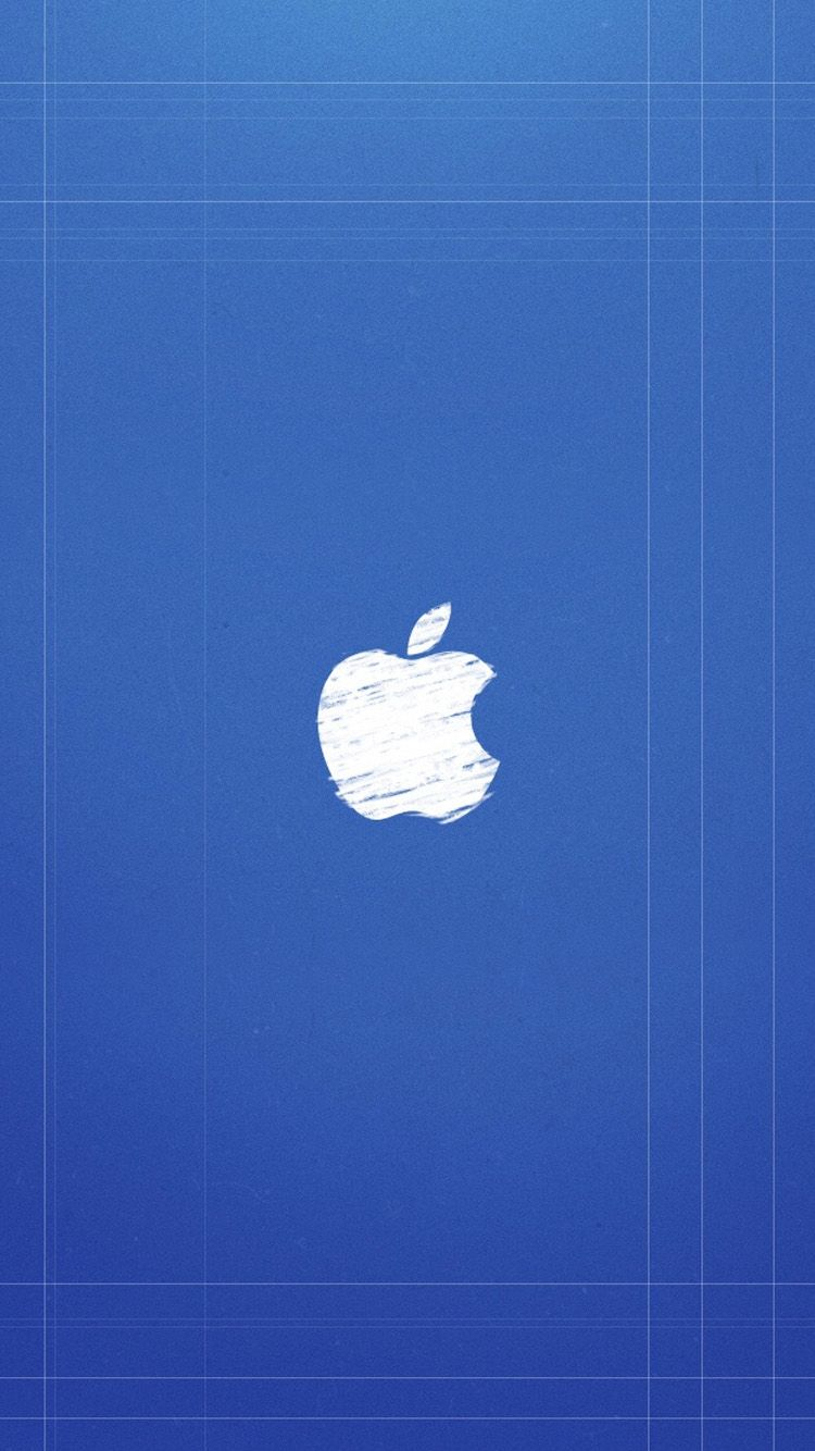 apple iphone 6 wallpaper. blue background apple logo iphone 6 wallpaper iphone l