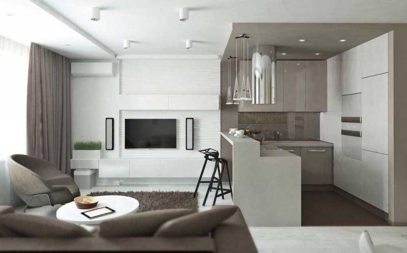 Дизайн кухни-гостиной 14 кв м: 40 фото | Кухня гостиная с ...
