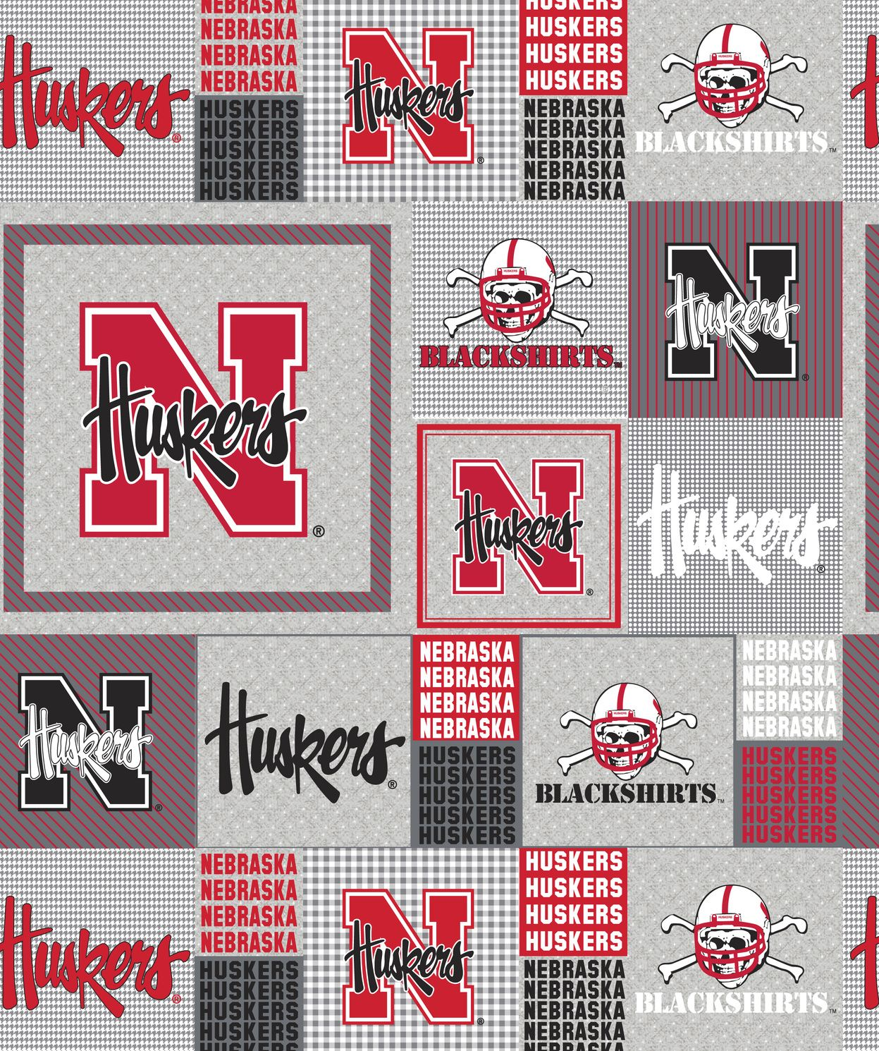 University of nebraska cornhuskers fleece fabric