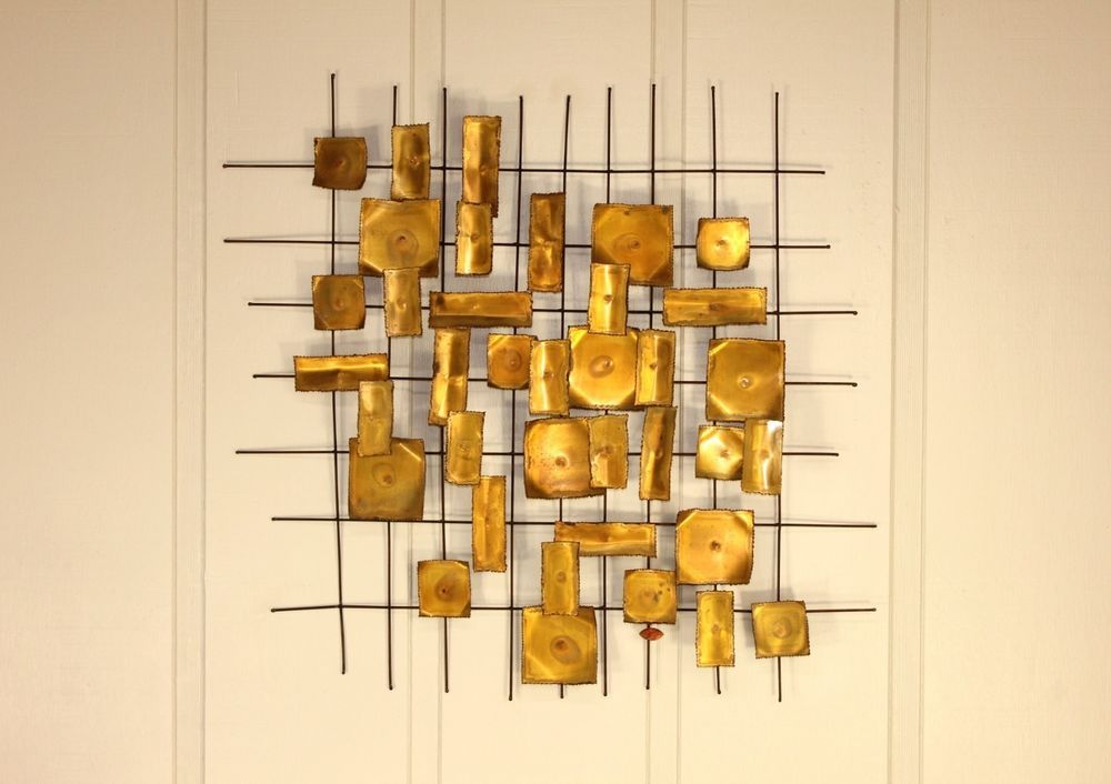 Brutalist Wall Art Hanging by Willem Degroot Brass Metal Sculpture ...