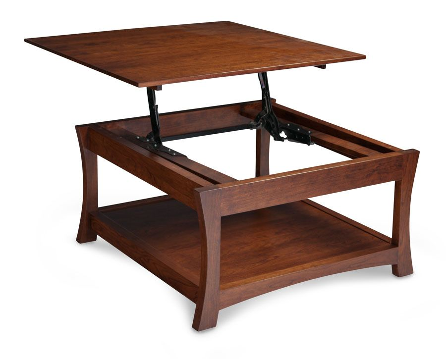 Loft Square Coffee Table With Lift Top Simply Amish Furniture