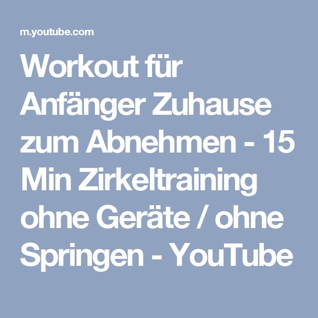 effektives workout abnehmen