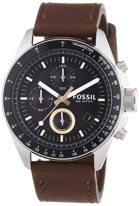 Buy Fossil End of Season Decker Chronograph Black Dial Men