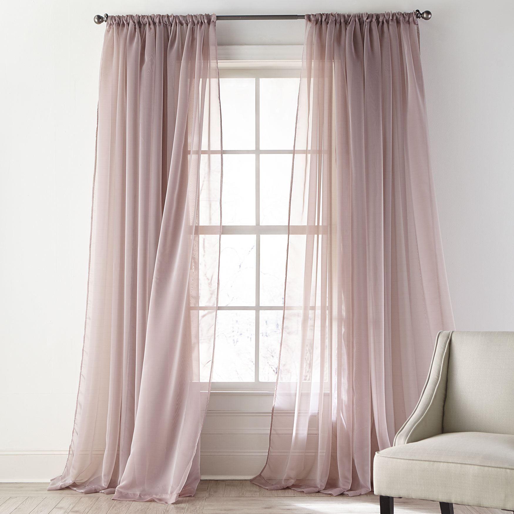 ophelia shimmer curtain mauve sheers