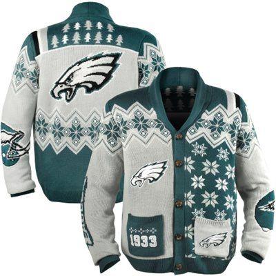 Philadelphia Eagles Ugly Sweater Cardigan Styles Philadelphia