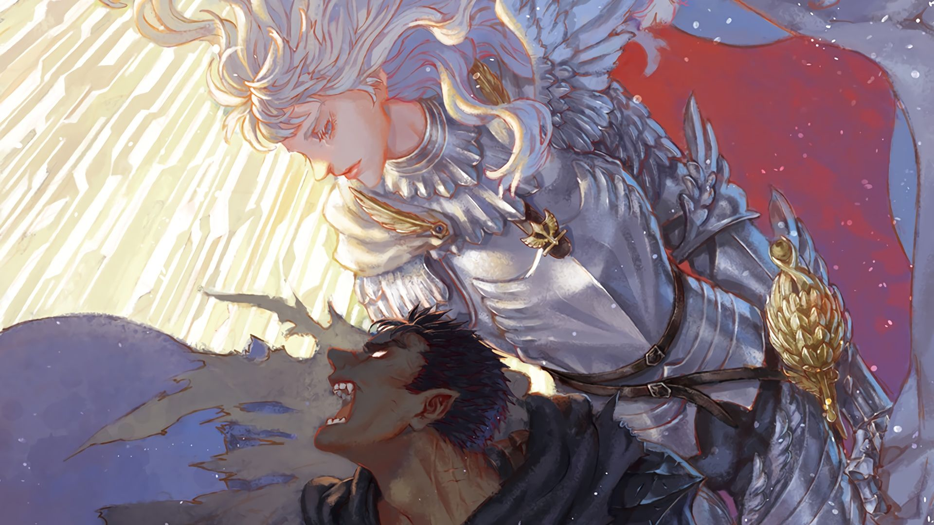 Guts and Griffith Berserk Anime Wallpaper Anime