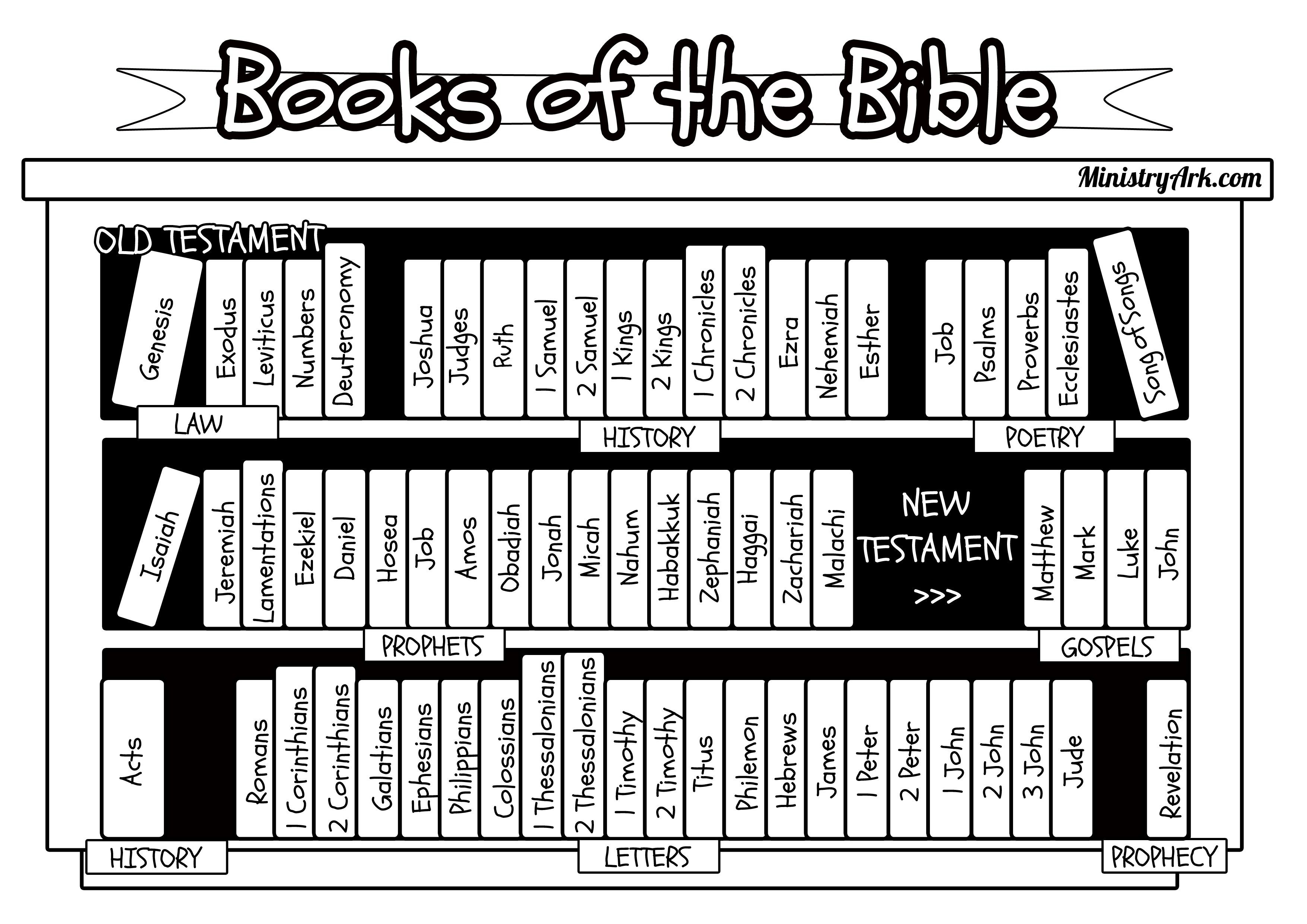 Books Of The Bible Bookcase Jpg 3508 2480 Bible Printables