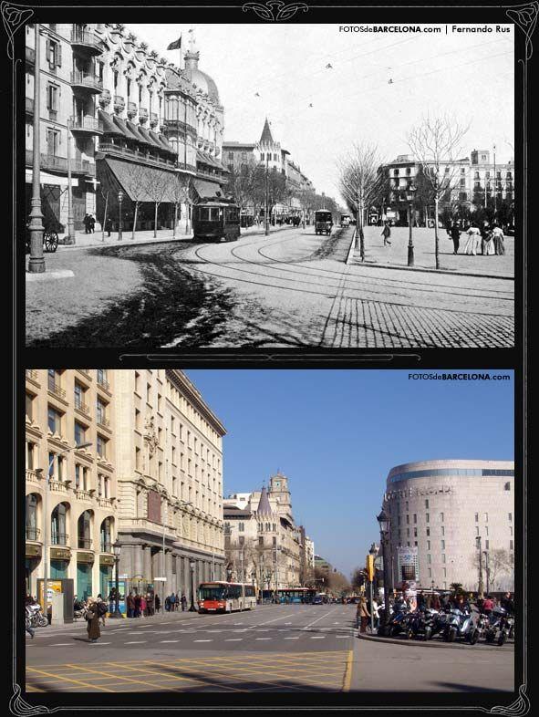 El Gran Hotel Colon Ya Desaparecido Y Sustituido Por El Edificio De Un Banco Disponia De Una Fotos De Barcelona Plaza De Cataluna Barcelona Barcelona Ciudad