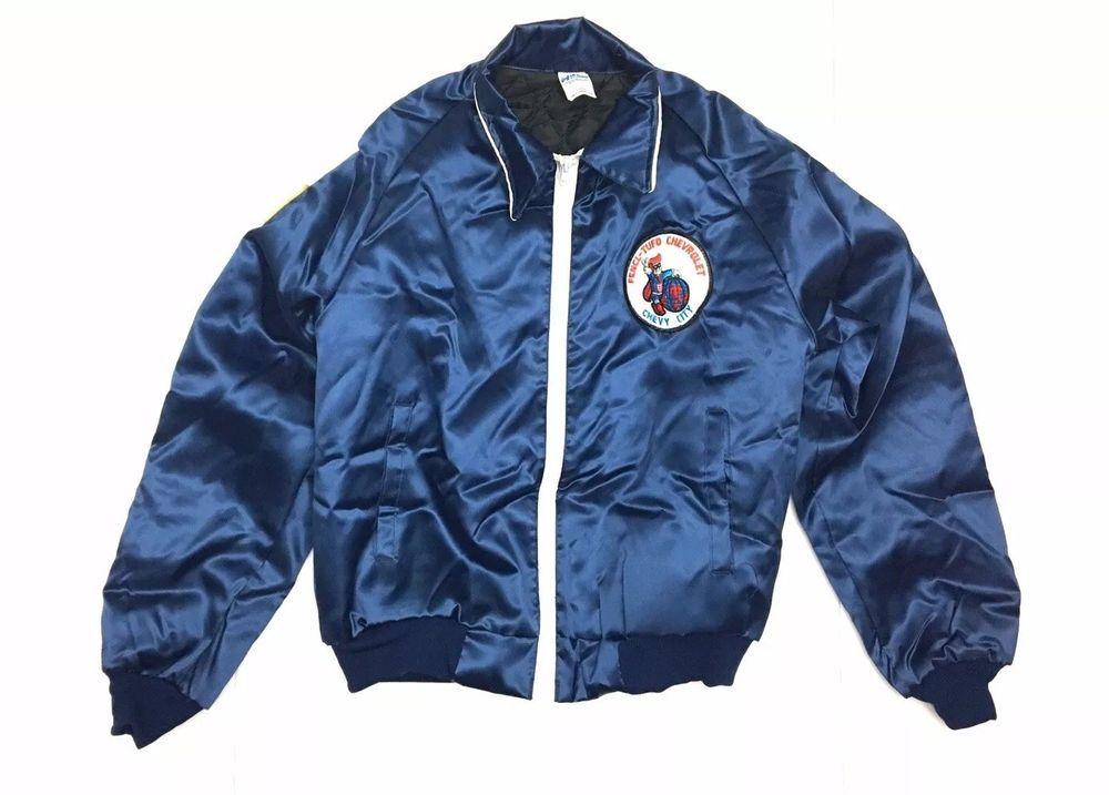 VTG CHEVY DEALER Jacket Horizon Made USA Large 80s 90s USA-1 READ  fashion   clothing  shoes  accessories  mensclothing  coatsjackets (ebay link) 0e73b2856