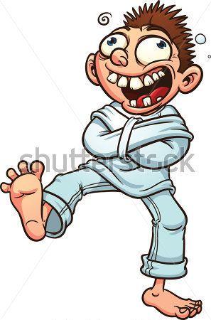 Chico loco de dibujos animados. Camisa de fuerza.  37a5e2b6a9e26