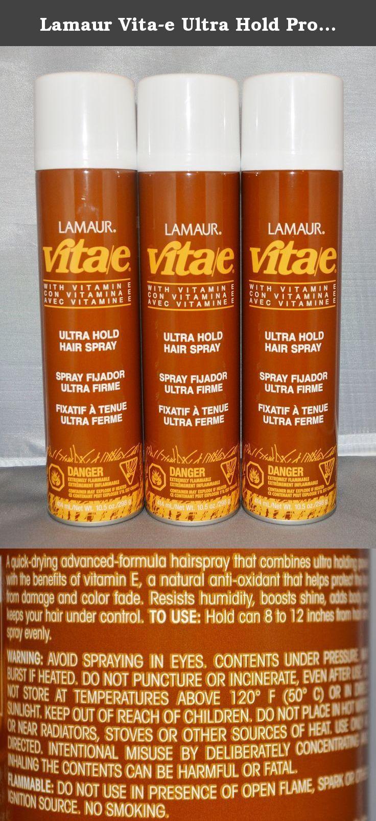Lamaur Vita E Ultra Hold Professional Hair Spray 80 Voc 10 5 Oz 3 Pack A Quick Drying Advanced Formula Hairspray Benefits Of Vitamin E Color Safe Vitamin E