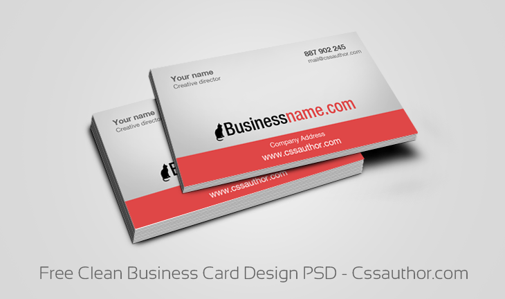 Business Card Templates PSD Cssauthorcom Business Card - Free business cards templates photoshop