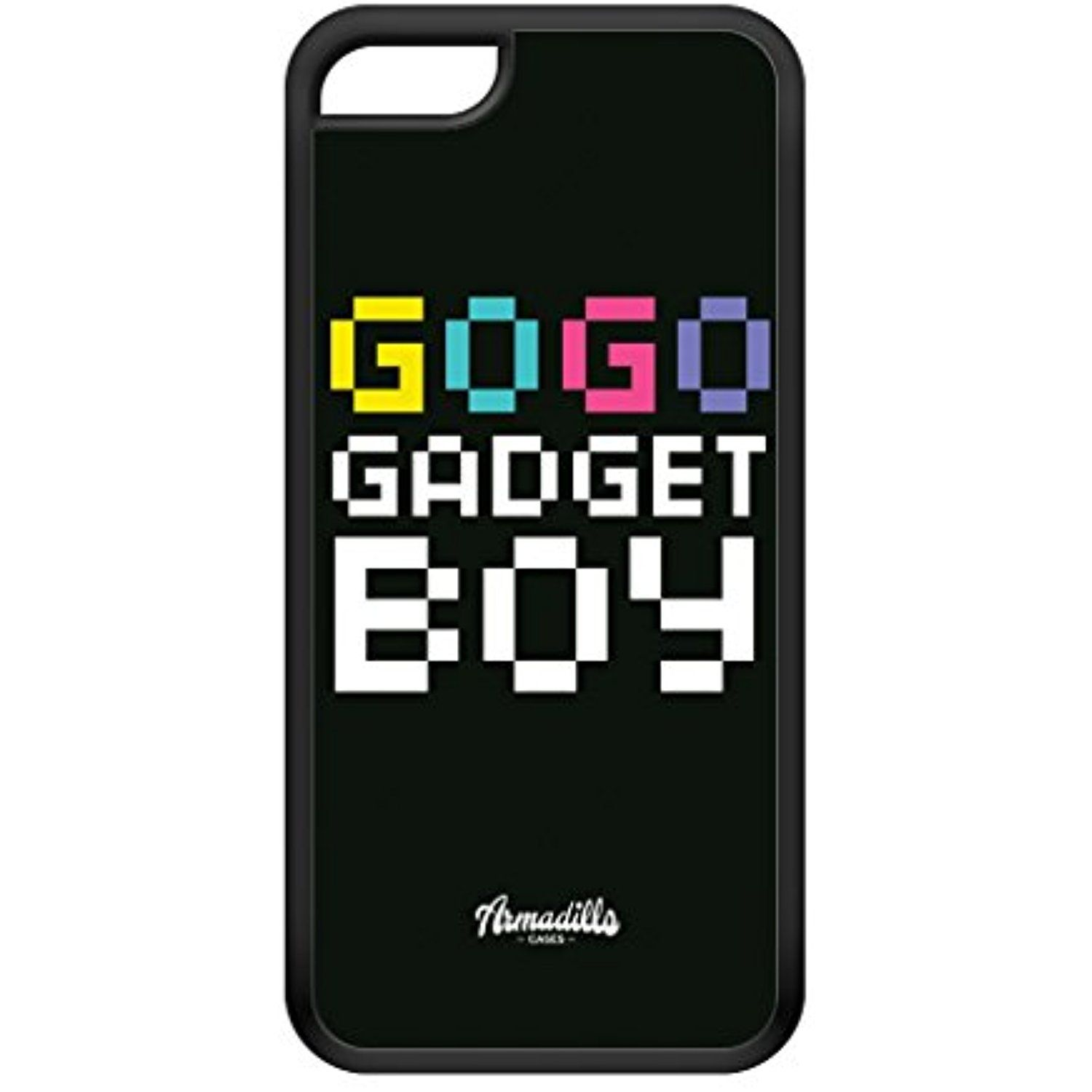 on sale 63435 edfcd Gogo Gadget Boy Black Silicon Rubber Case for iPhone 5C by textGuy ...