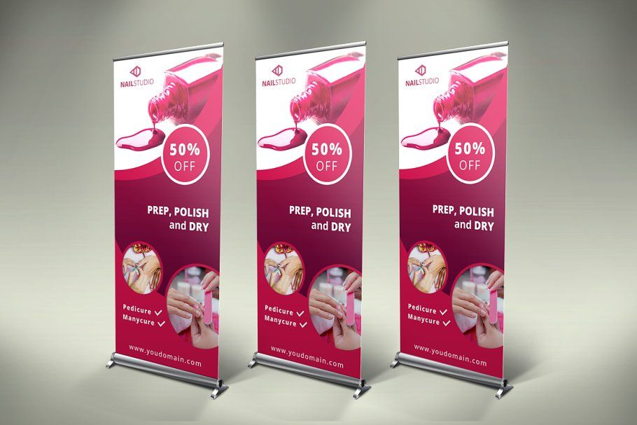Nails RollUp Banner  SK