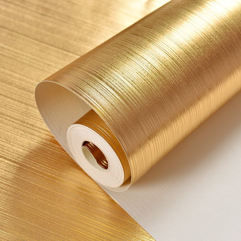 High Quality 3D Gold Foil Wallpaper Roll For Wall PVC Waterproof ...