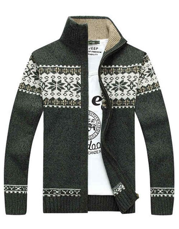 Fair Isle Full-Zip Sweater Green | L&C | Men's Fashion | Pinterest ...