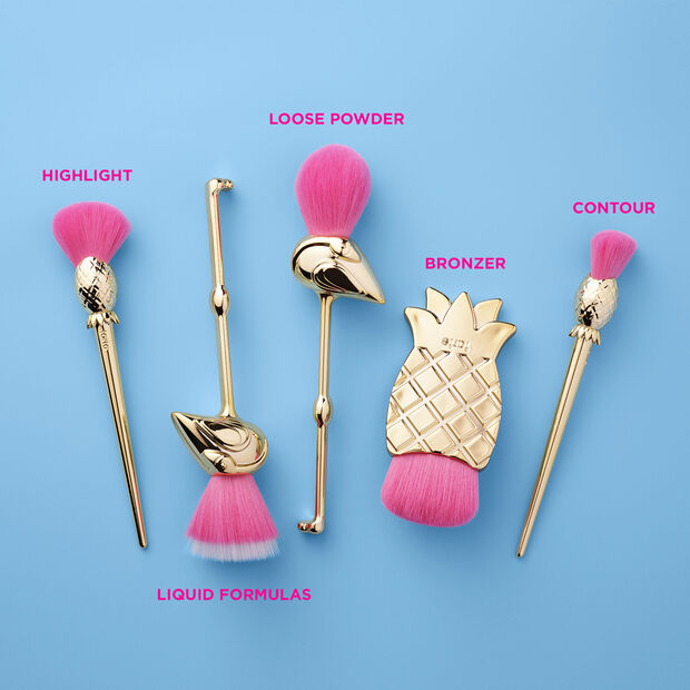 let's flamingle brush set Tarte Cosmetics