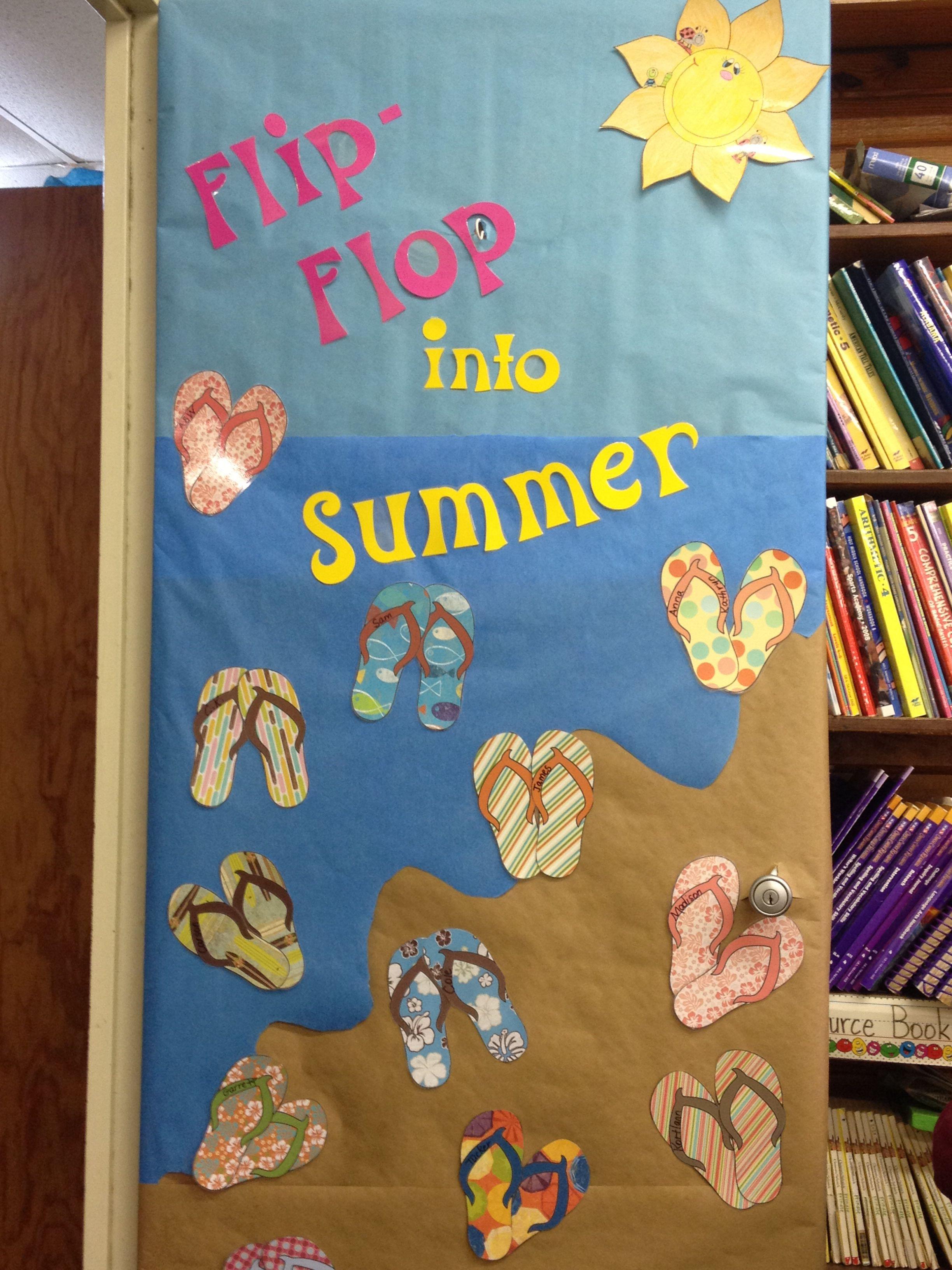 Summer Bulletin Board Door