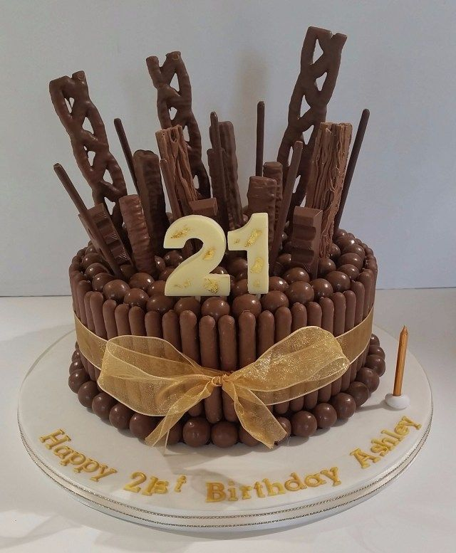 Terrific 24 Excellent Photo Of 21St Birthday Chocolate Cake 18Th Cake Funny Birthday Cards Online Amentibdeldamsfinfo