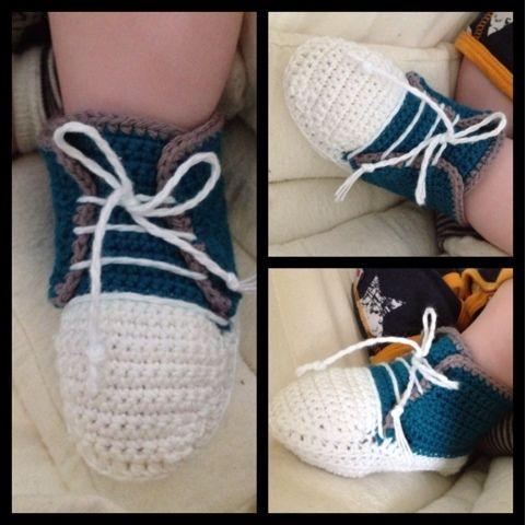 ByFonna: Hæklet Converse sko, lækker lagkage og pesto