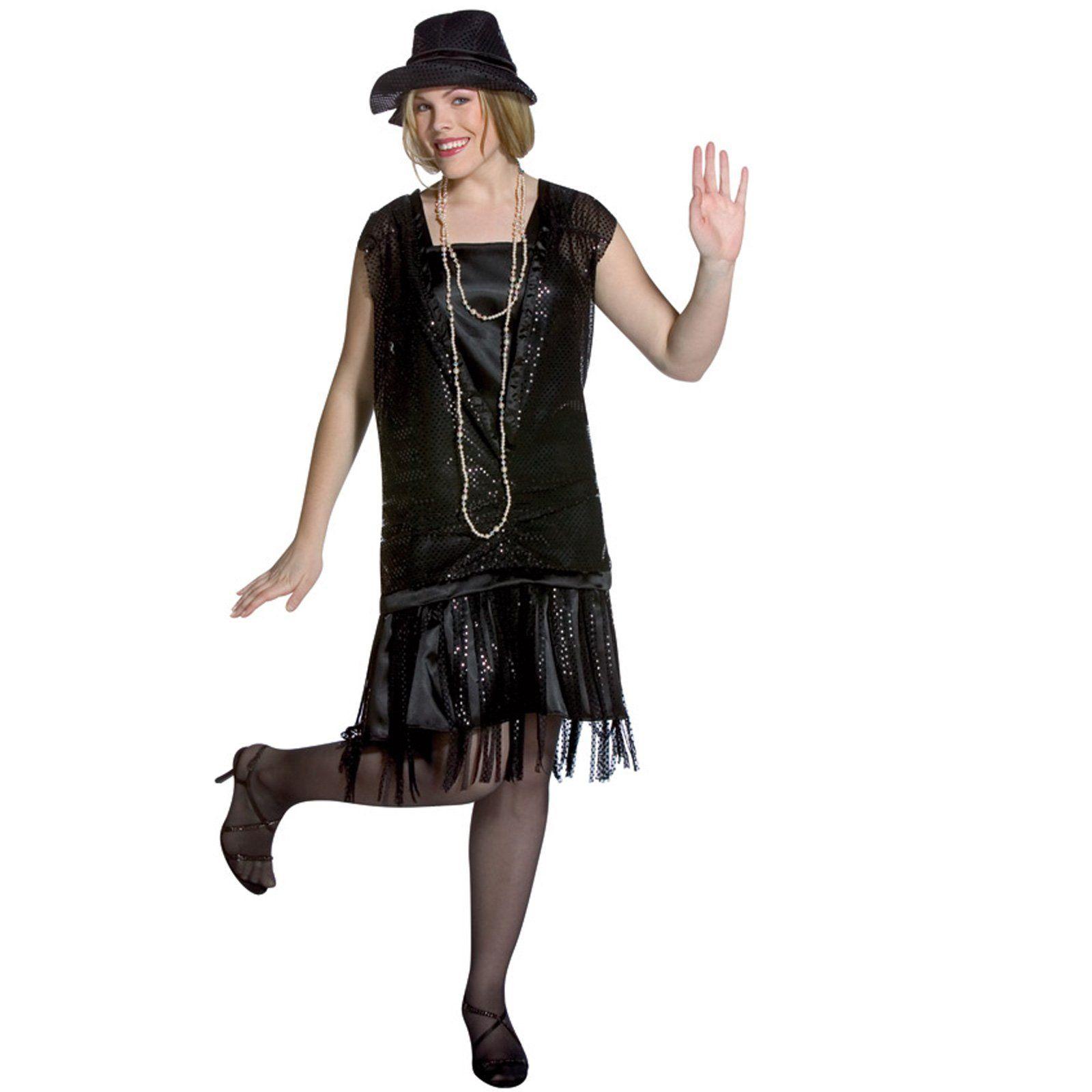 Elegant Flapper Adult Plus Size Dress Costume Gatsby Girl