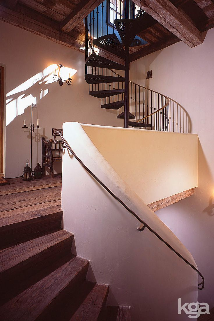 Rustic Spiral Staircase Leading Up To A 1 Room Guest Apartment In The  Lu0027Orangerie