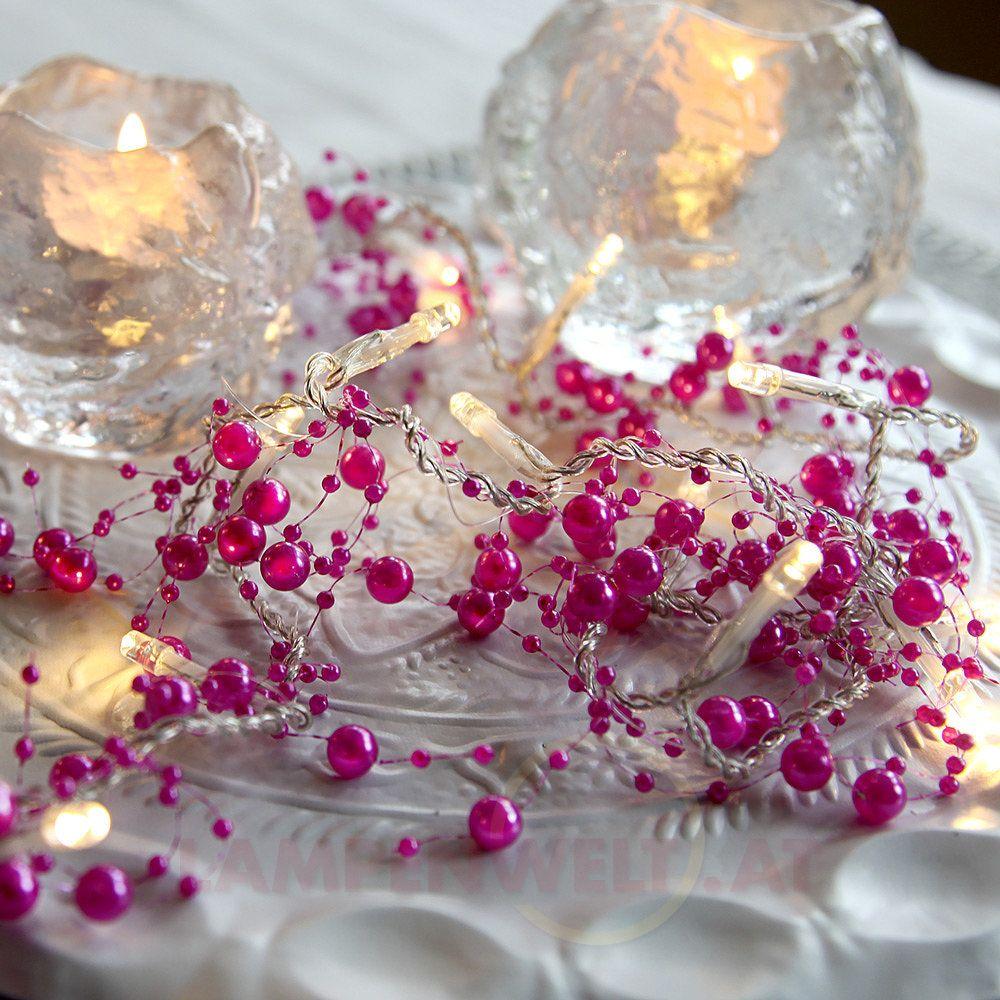 Stimmungsvolles #Licht auf #Partys und #Familienfeiern zaubern oder einfach nur ein leuchtendes Highlight ins Zimmer bringen – mit der 20-flammigen #LED - #Lichterkette Pärla Garland ganz einfach!