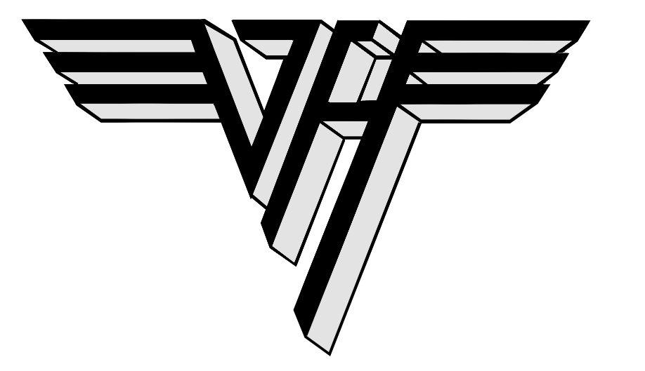 Color Van Halen Logo All Logos World In 2019 Van Halen Rock