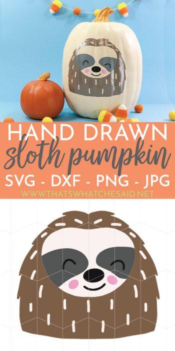 Sloth Pumpkin Pumpkin crafts, Fabric pumpkins, Sloth