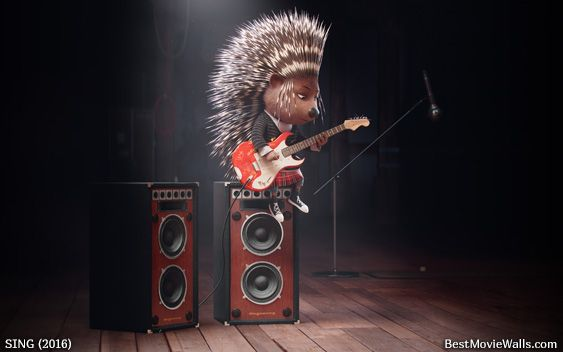Ash The Hedgehog Voiced By Scartletjohansson From Sing Playing On Her Guitar In This Hd Wallpaper Singing Sing Movie Illumination Sing