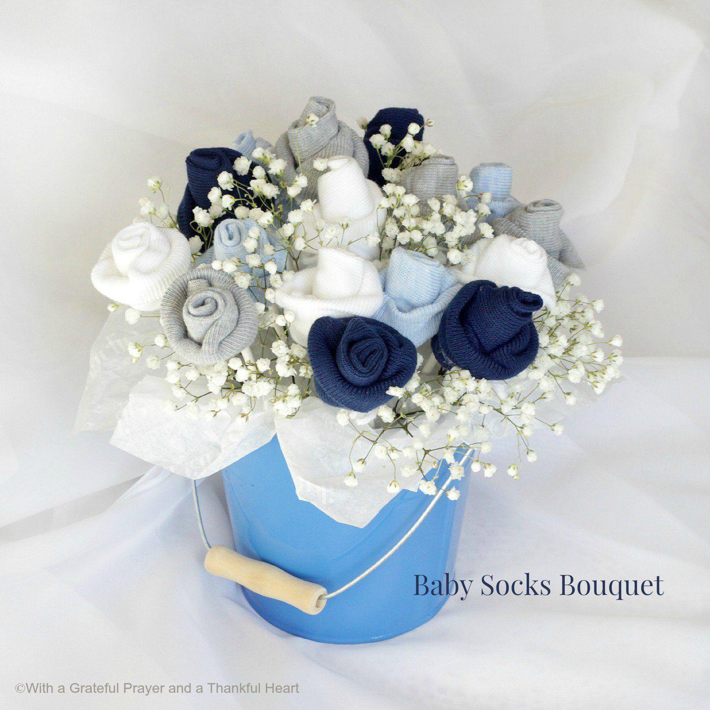 Diy Baby Socks Rose Flower Bouquet Great Baby Gift Idea Diy Baby