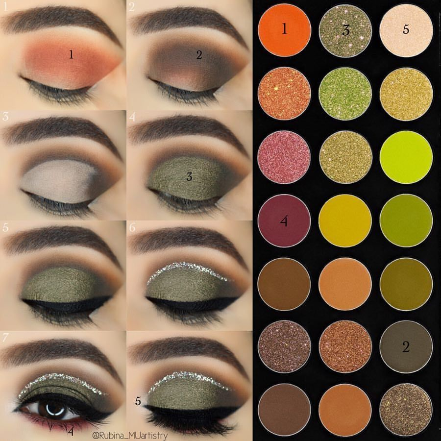 Stepbystep This Palette Is Everything I Was Getting So Many Requests For A Olive Green Smokey Eye So Here Makeup Morphe Eye Makeup Tutorial Eye Makeup