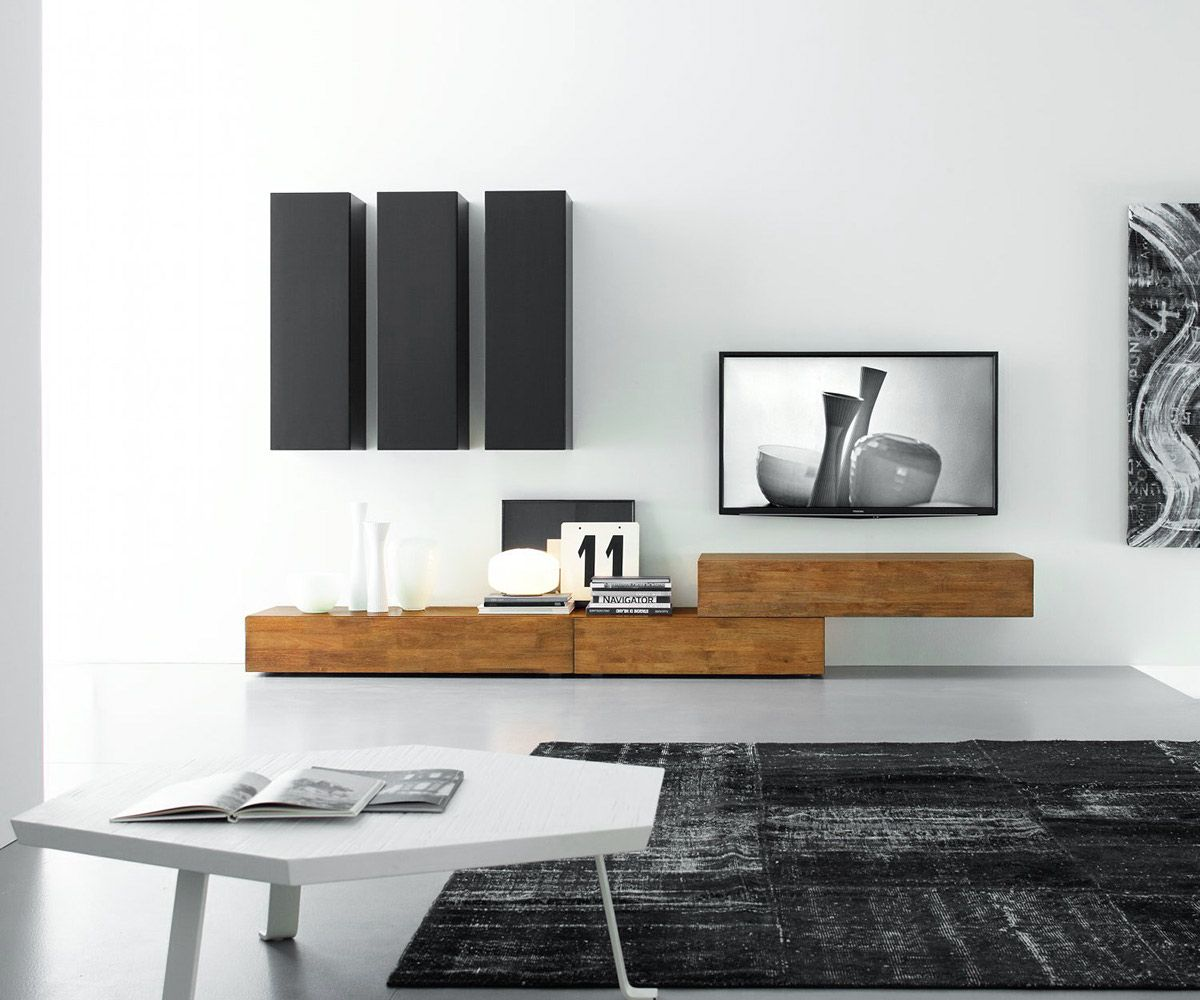 Modern TV Walls From FGF Mobili In Italy. Made Of