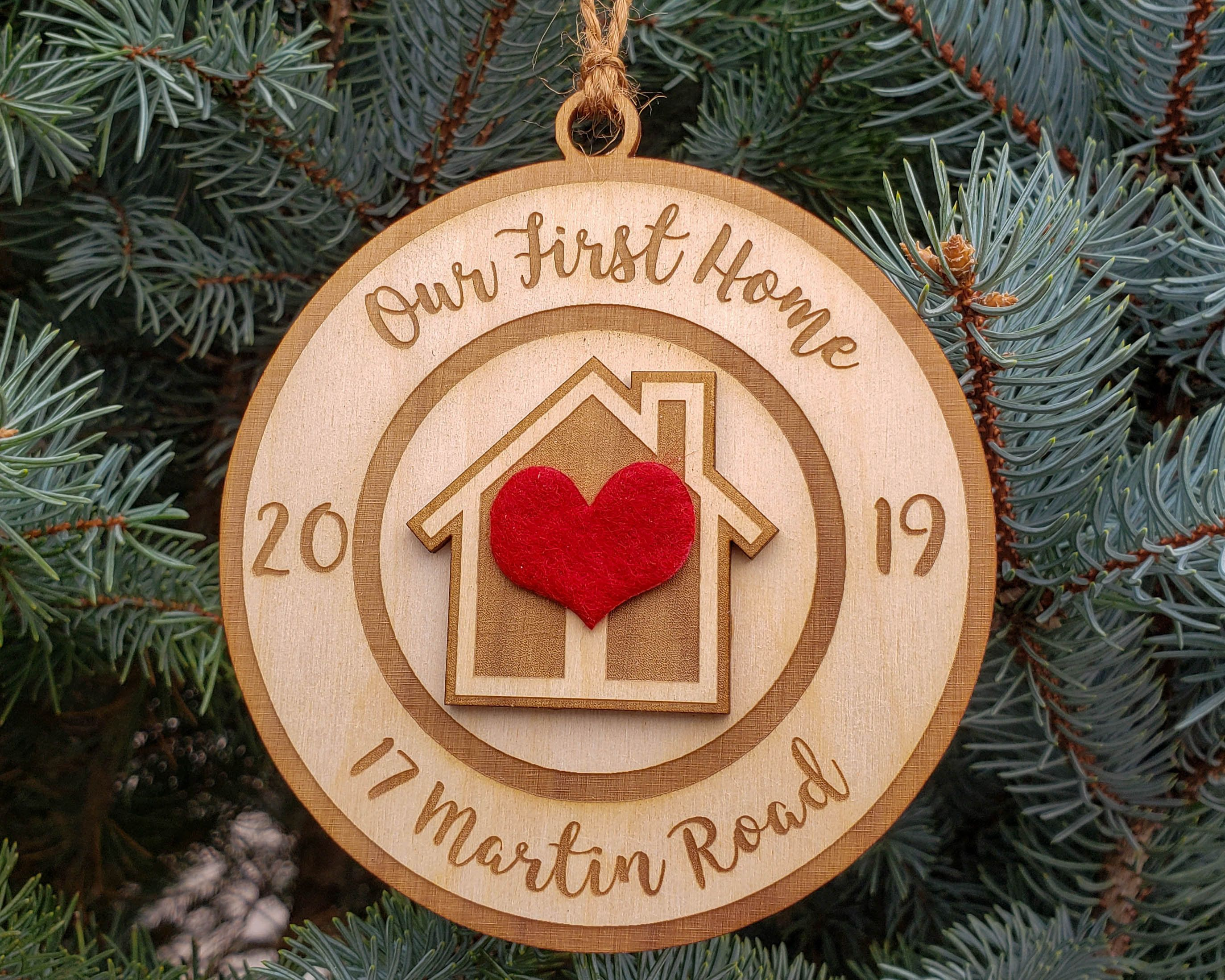 First Home Christmas Ornament 2020 Our First Home Christmas Ornament Our New Home Christmas | Etsy in