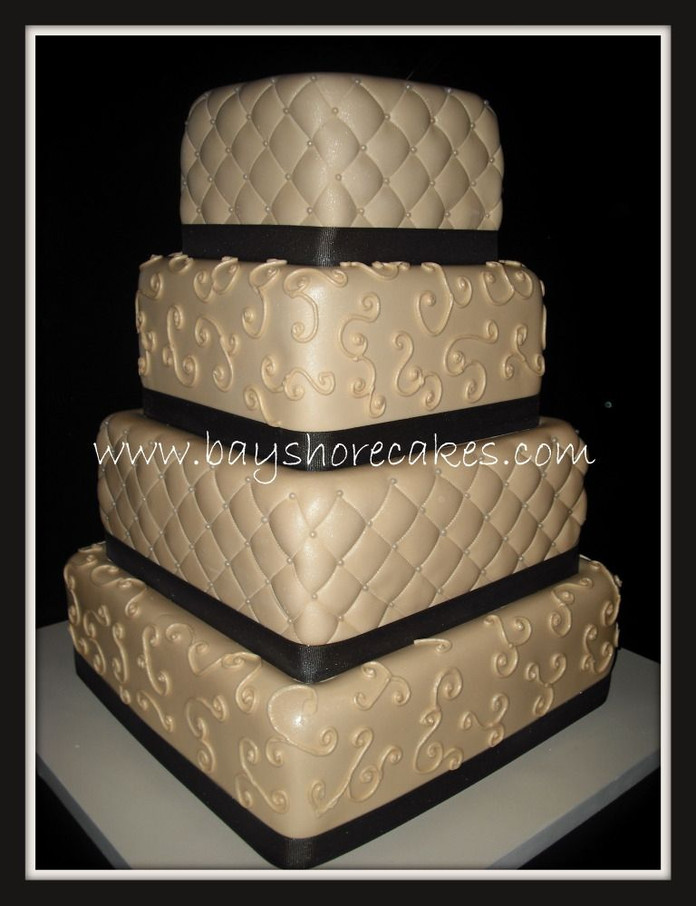 square four tier fondant wedding cake designs ideas and pictures wedding and birthday cake - Wedding Cake Design Ideas