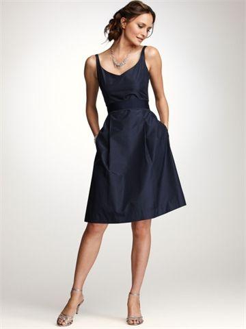 Deep V-neck Natural Waist Hits At Half-thigh satin bridesmaid dress BD1164
