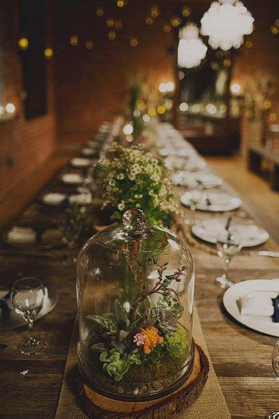 Glam geometric terrarium wedding ideas best